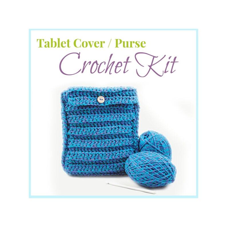 Tablet Cover Crochet Kit Learn to Crochet Beginner/'s Crochet Set Crochet Kit Children/'s Crochet Beginner Crochet Purse Crochet Tutorial