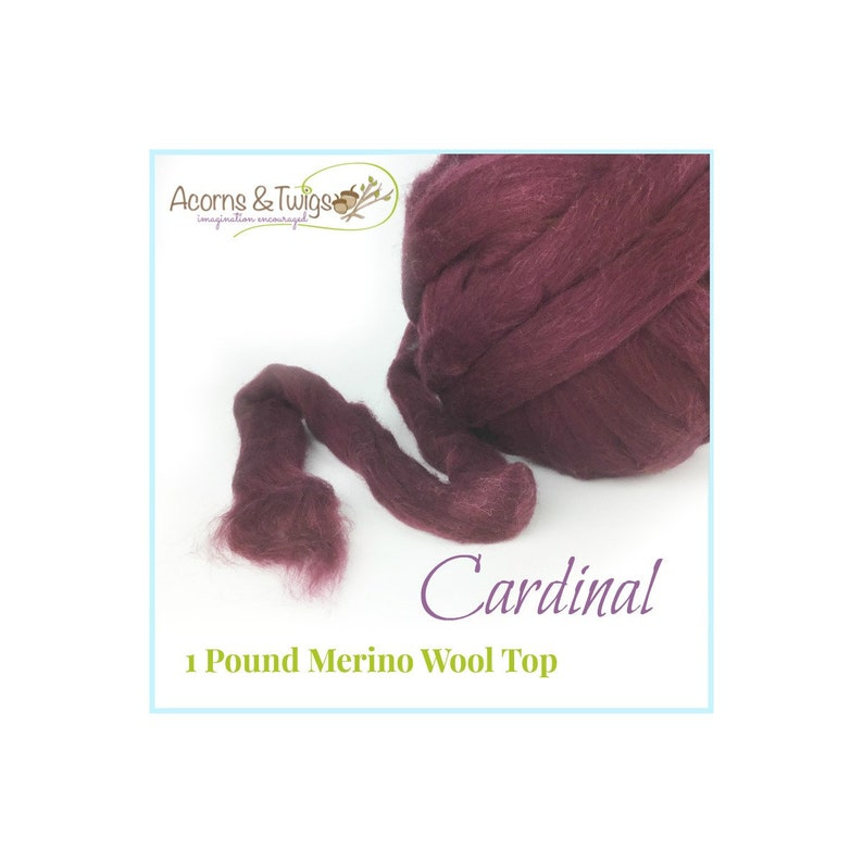 Bulk Discount wool roving for Spinning Nuno Felting Cardinal Wool for Felting 1 lbs Red Merino Wool Top Rove Dark Red Top for Spinning
