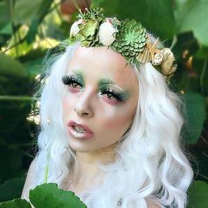 Seashell Headdress Mermaid Costume Sunset Siren Headpiece Mermaid Starfish Crown