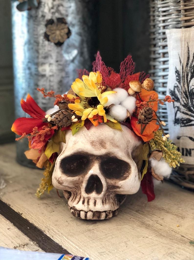 Fall Flower Crown Elf Queen crown Halloween headpiece Autumn Leaf Headband Fairy Crown fairy costume