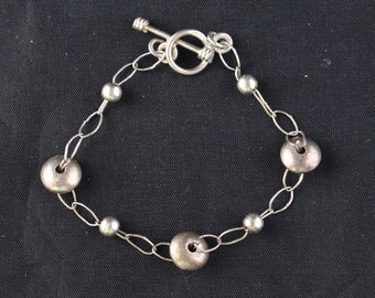 """Vintage Sterling Silver Bracelet 7.5"""""""