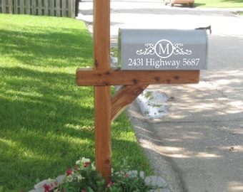 Mailbox Decal Personalized Street Address Decal Scroll Mailbox Decal Christmas Gift Spring Home Improvement Mailbox Address Curb Appeal