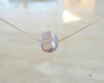 Ametrine necklace Minimalist gemstone Gift for BFF Gift for her Ametrine jewelry gift Chunky ametrine minimalist crystal necklace amethyst