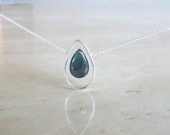 Blue Tourmaline necklace Birthday Gift for her gift for BFF gemstone necklace tourmaline slice Watermelon tourmaline briolette