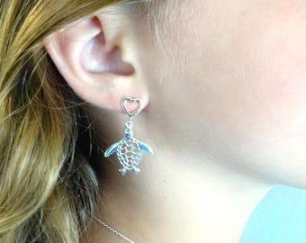 Turtle earrings Gift for Ocean lover Summer earrings Sea Turtle Honu earrings Hawaiian Earrings Tropical Earrings Birthday gift for girl