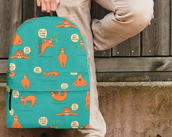 Wildlife Collection - Lazy Sloths (Teal) Backpack For Kids dcb751a1b206c