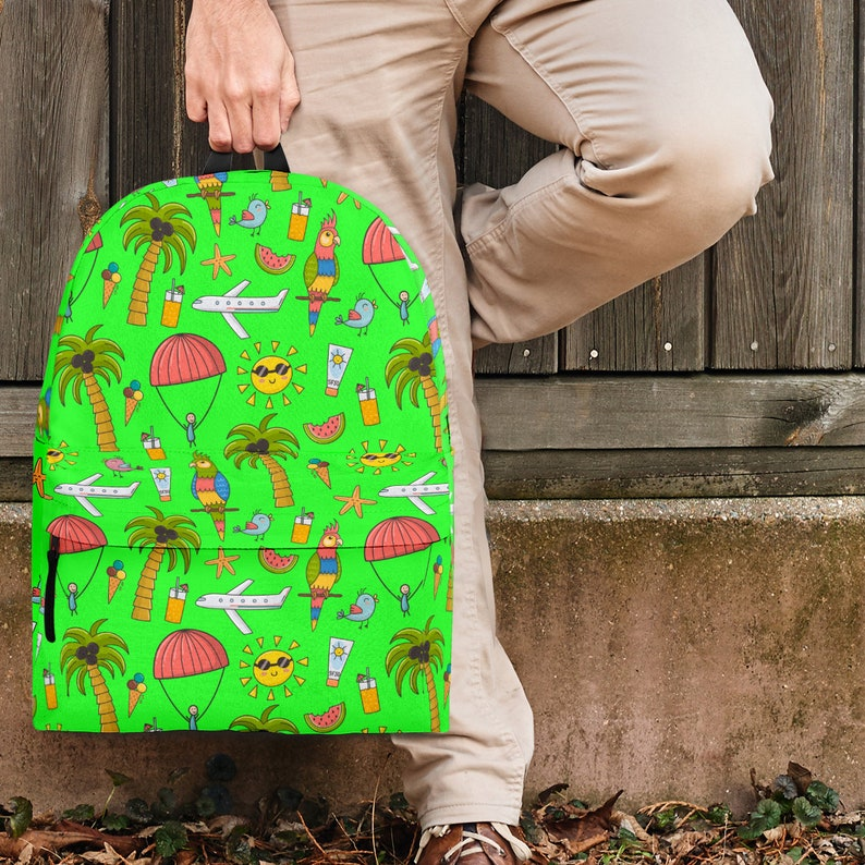 Green - Great Gift For Lovers Of Summer Vacations And Adults Teens Summer Vacation Backpack For Kids