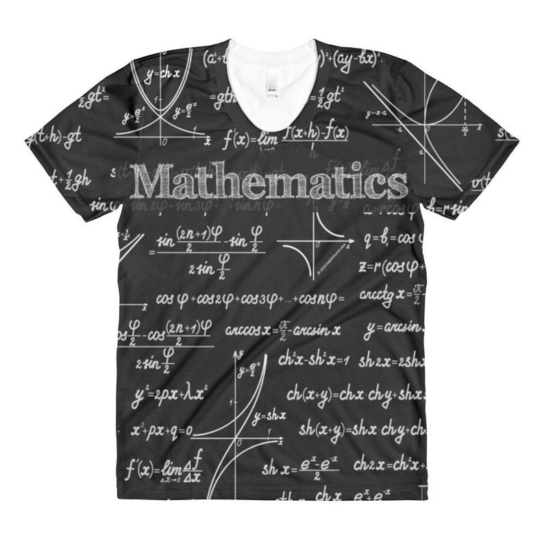 Mathematica Design #1 All Over Print T-Shirt For Men And Women - Great Gift  For Mathematicians, Teachers, Math Geeks, And Science Nerds