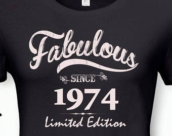Fabulous Since 1974 44th Birthday Gifts For Women Gift Tshirt