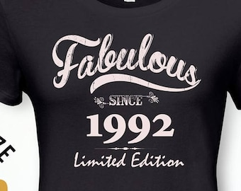 Fabulous Since 1992 26th Birthday Gifts For Women Gift Tshirt