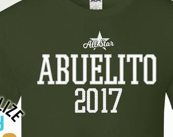 All Star Abuelito Since (Any Year), Abuelito Gift, Abuelito Birthday, Abuelito tshirt, Abuelito Gift Idea, Baby Shower, Pregnancy