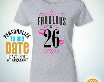 Fabulous 26 26th Birthday Gifts For Women Gift Tshirt