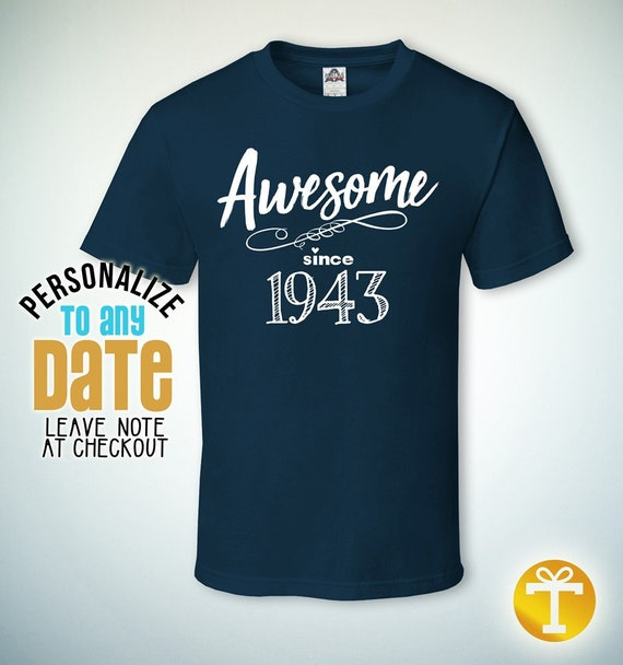 Awesome Since 1943 75th Birthday Gifts For Men