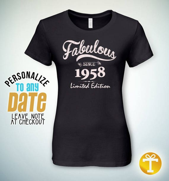 Fabulous Since 1958 60th Birthday Gifts For Women