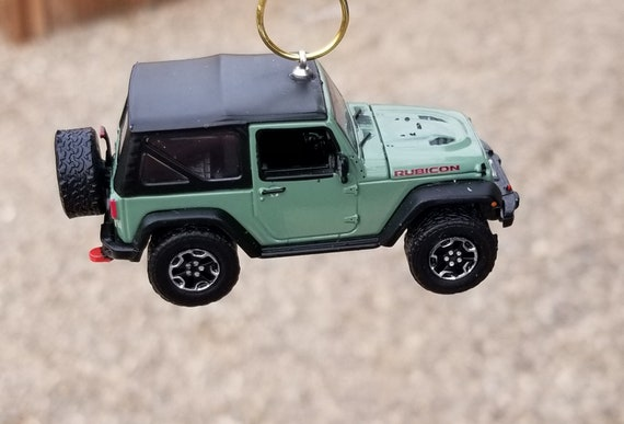 2015 Jeep Wrangler Accessories >> Christmas Ornament 2015 Jeep Wrangler Rubicon Hard Rock Greenlight Rear View Mirror Charm Jeep Accessories Off Road Decor 4x4 Trail Rated
