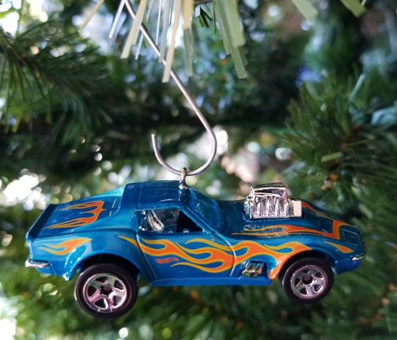 Christmas ornament Chevy Corvette Hot Wheels ornament | Etsy