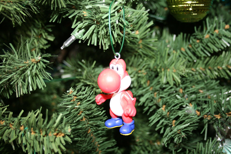 Christmas ornament Mario bros. ornament Red Yoshi ornament | Etsy