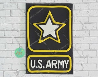 US ARMY Fondant Cake Topper - 9x12 inches aprox