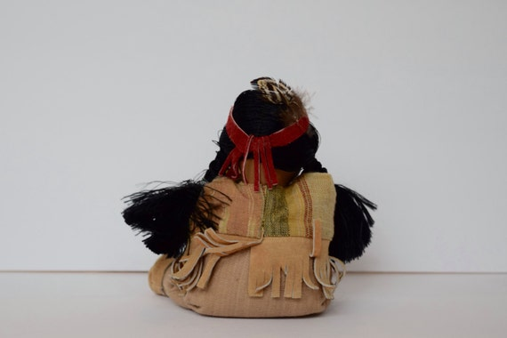 Pleasing Native American Indian Bean Bag Doll Woman And Papoose Baby Cloth Doll Painted Face I8 Caraccident5 Cool Chair Designs And Ideas Caraccident5Info