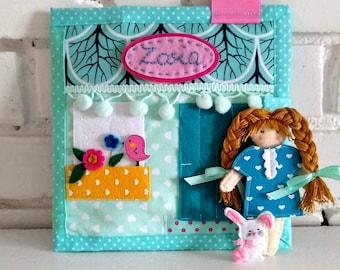 Custom quiet book, Busy Book, Montessori book, Toddler quiet book, Dress up felt doll, 3-7 age