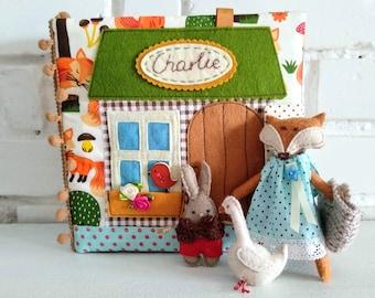 Custom  quiet book, Dollhouse quiet book, Toddler quiet book, Travel dollhouse, Busy book toddler