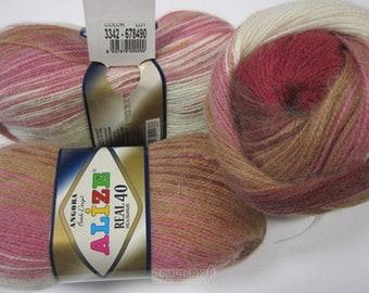 Yarn Alize Angora Real 40 batik yarn batik multicolor yarn wool yarn wool angora yarn mtlange yarn acrylic yarn Turkish yarn wool thread