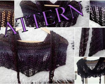 Scarf pattern scarf or Shawl PDF Pattern Easy Knitting Pattern