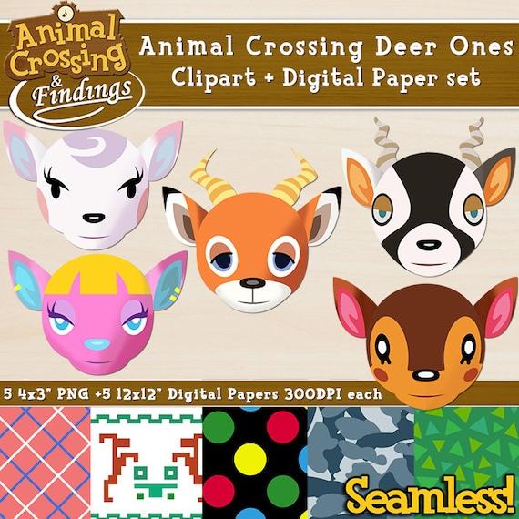 Instant Download Animal Crossing Cliptart Deer Ones Diana Etsy