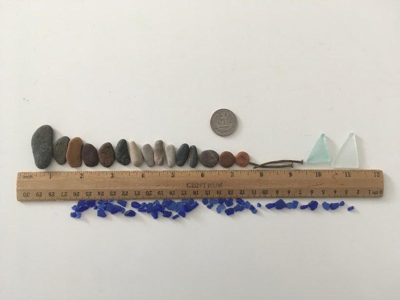 Fisherman Mosaic Supply Sea Glass Fishing Art Mosaic Wall Art Set Of 83 Sea Pebbles Seaside Sea Glass And Antique Rustic Nails