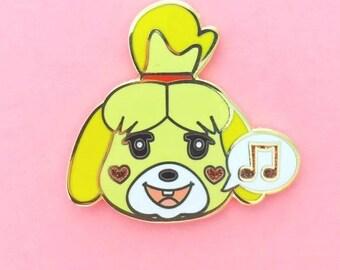 Isabelle's Sweet Song Enamel Pin