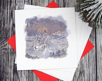 Christmas Nativity Greetings Cards