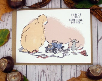 I Have a Little Something For You Greetings Card