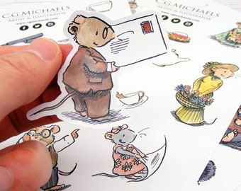 Mice Tails Sticker Sheets