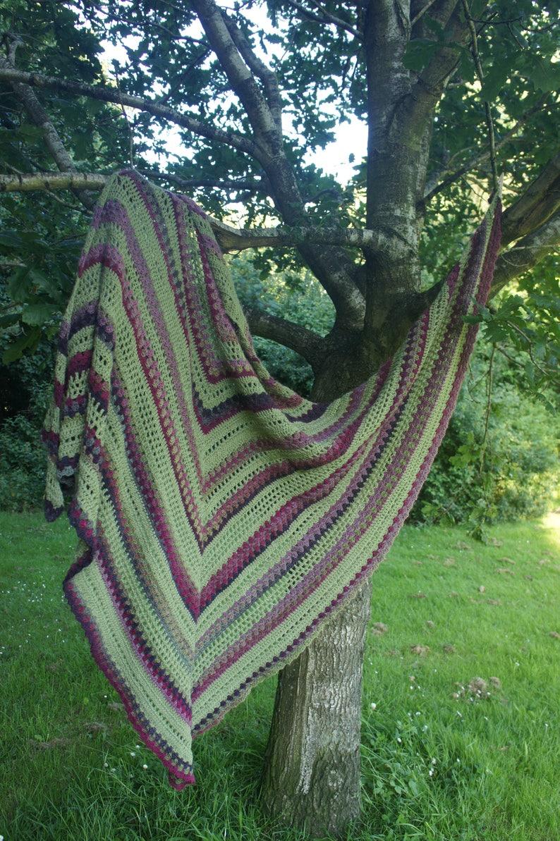 Woodland Willow Shawl Pattern  crochet shawl shawl pattern image 0