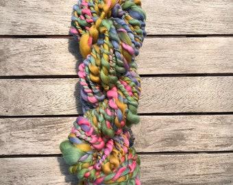 Handspun Hand Dyed Novelty Yarn 2 ply