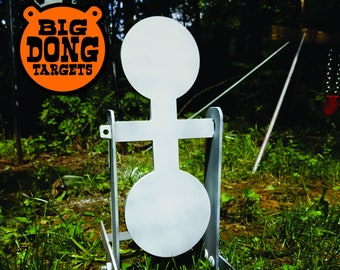 "BIG DONG TARGETS Spinning 6"" and 7"" Reactive Circles, AR500 Steel Target, Reactive Target, Spinner Target, Gift for Him, Hunting"