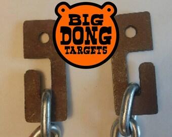 Gong Chain Hooks 4 pairs included to hang up to 4 Steel Shooting Targets