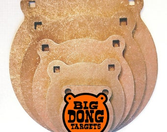 """BIG DONG TARGETS 1/2"""" AR500 Steel Gong Targets, Set of 6 Gongs in All Sizes 3"""", 4"""", 6"""", 8"""", 10"""", 12"""", Gift for Him"""