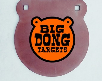 """BIG DONG TARGETS 3/4"""" 50BMG AR500 Steel Gong Target, Gift for Him, 50BMG Rated,"""