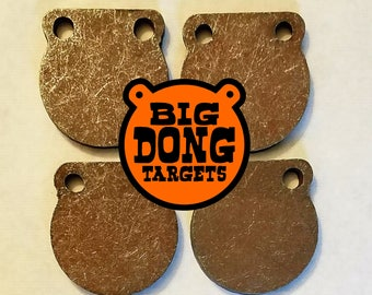 "BIG DONG TARGETS Set of 4 3"" x 1/2"" AR500 Steel Gong Targets, Shooting Range, Outdoor Sports, Tactical Shooting, Add-on, Gift for Him"