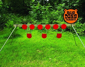 """3/8"""" 8"""" Plate Rack KIT with 3 hanging 8"""" AR500 Gong targets complete kit Free Shipping"""