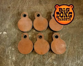 "BIG DONG TARGETS Set of 6, 2"" x 3/8"" AR500 Steel Gong Targets, Shooting Range, Outdoor Sports, Tactical Shooting, Add-on, Gift for Him"