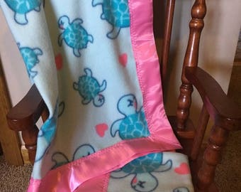 Handmade custom fleece baby blanket