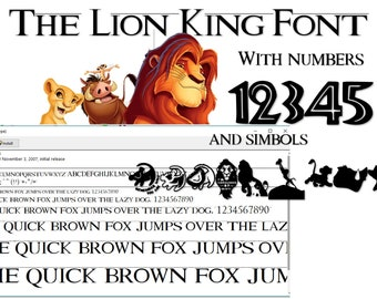 The Lion King Font Etsy