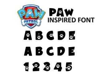 Paw Patrol INSPIRED Font True Type. To Install And Write