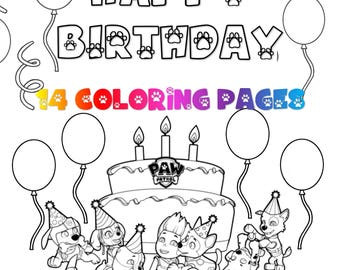 Coloring Pages Puppy Dog Pals Printables Puppy Puppies Party Etsy