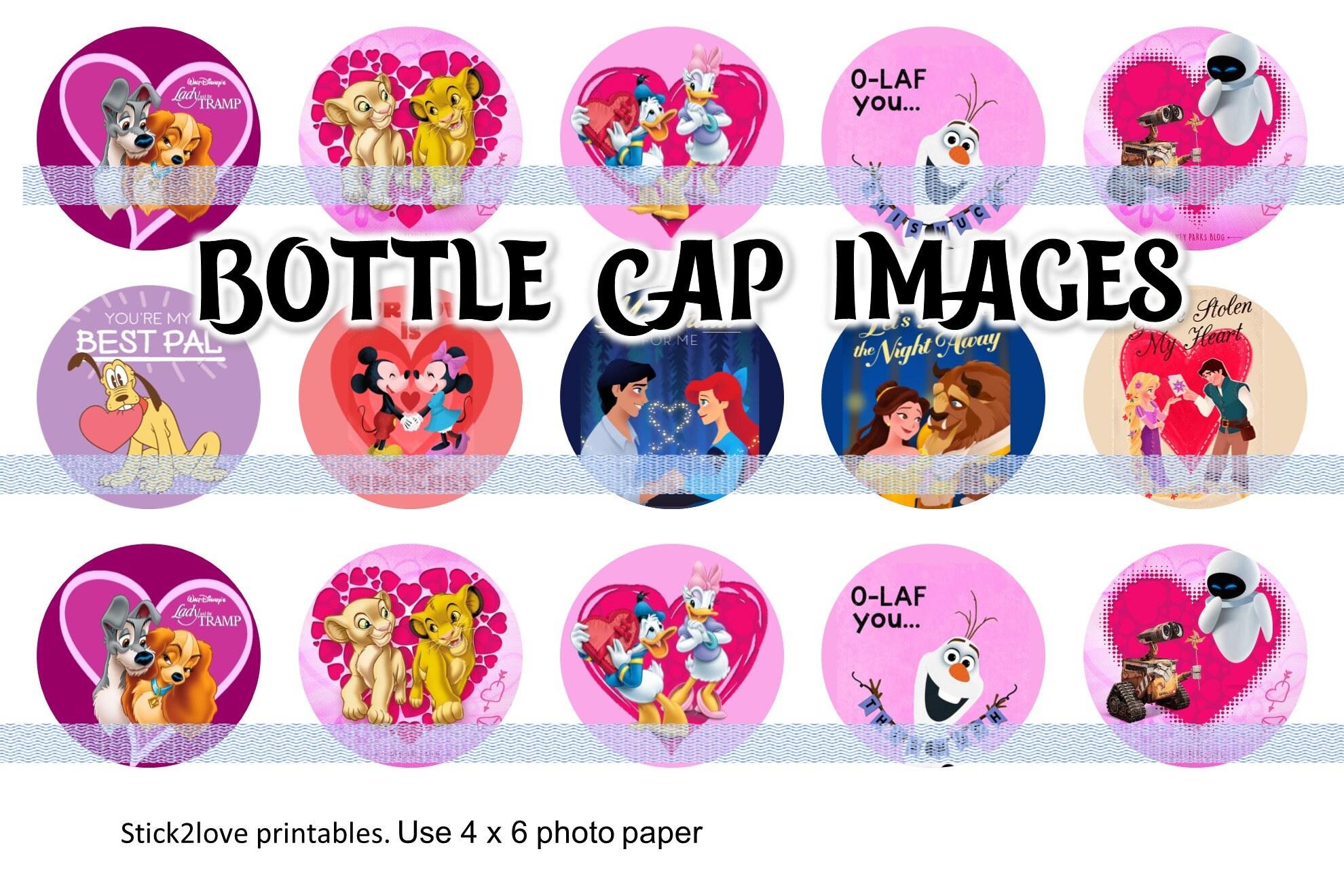 Bottle Cap on Key Ring Disney/'s PLUTO