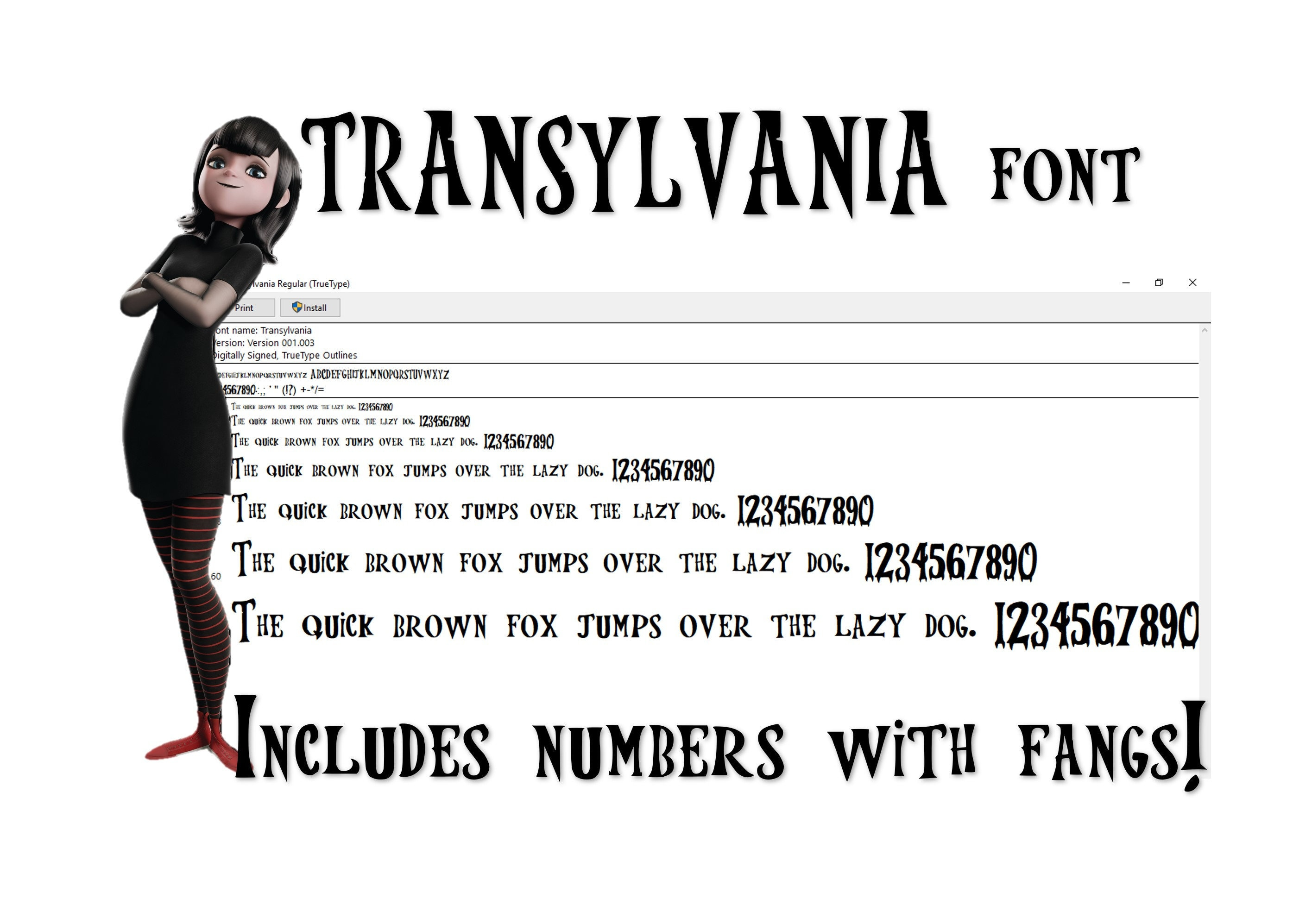 Transylvania Font To install and write  Vampi font ttf movie hotel hawaii  halloween summer