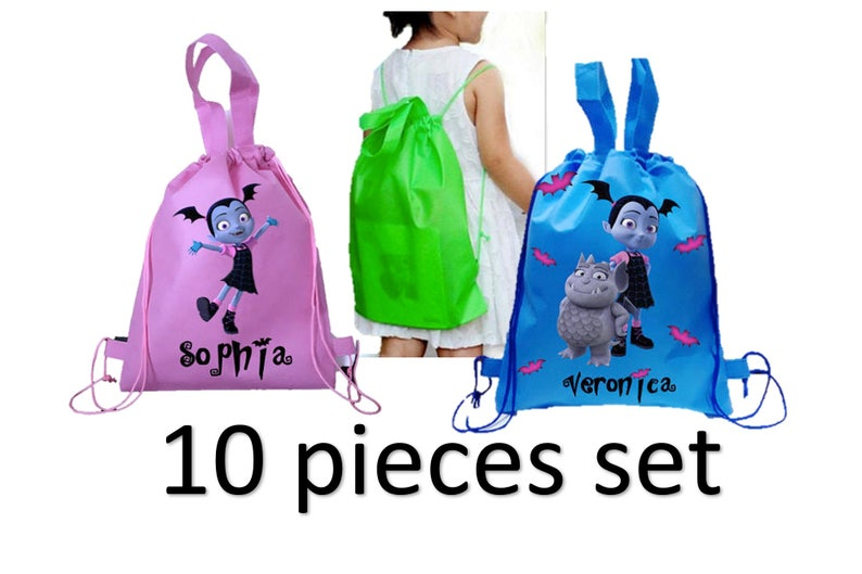 7c667eaf582 Vampirina goodie bags. Customized Backpack Party favor favours