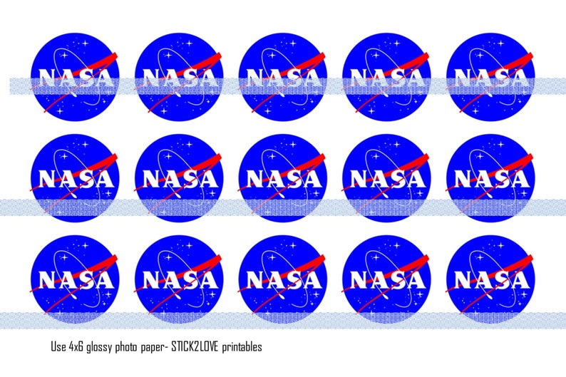 photo regarding Printable Nasa Logo identified as NASA DIVAS bottle cap visuals printables 4x6 - 1\